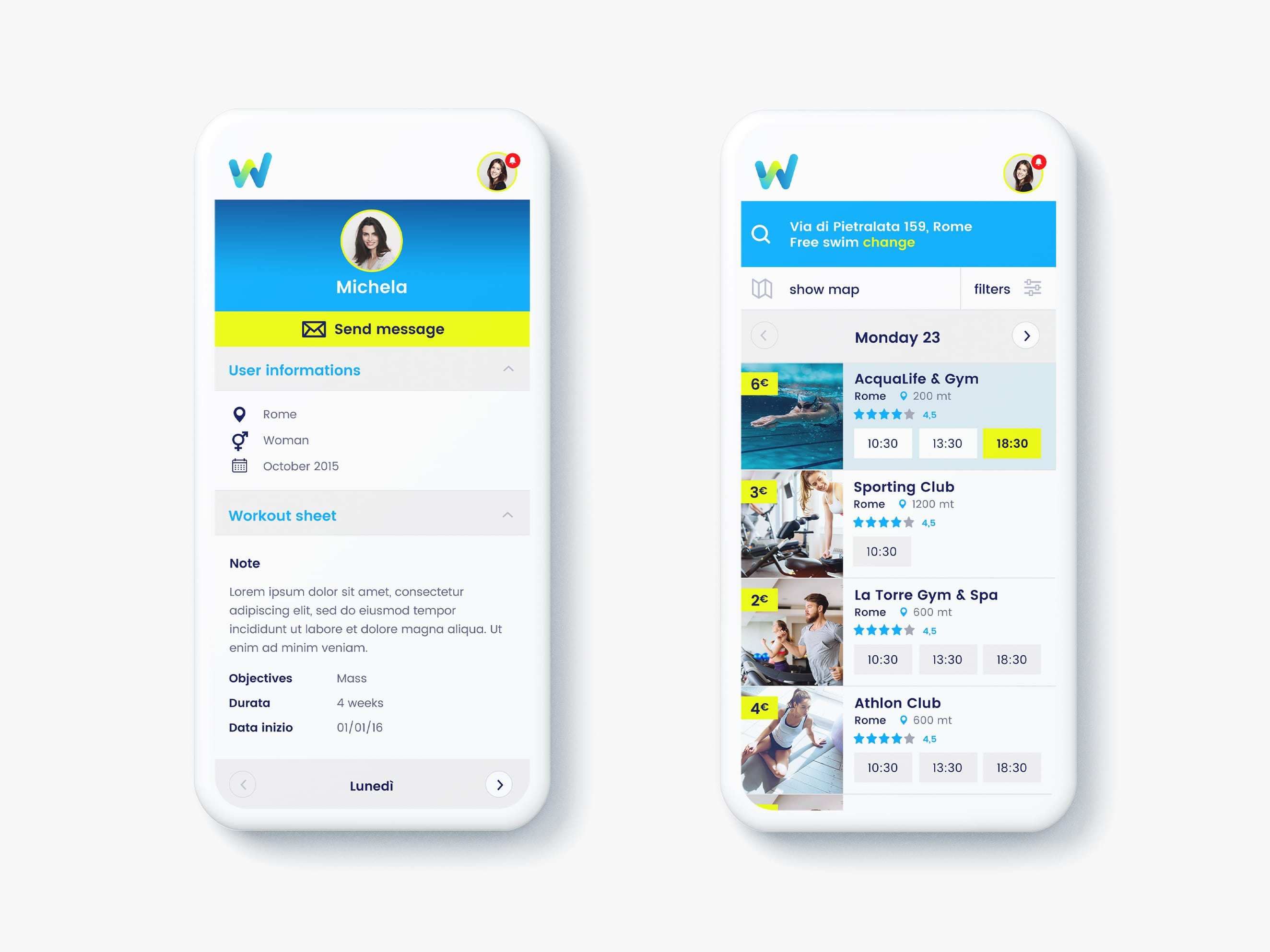 Ui ux design for Wecanfit web application – Development by Luther Dsgn