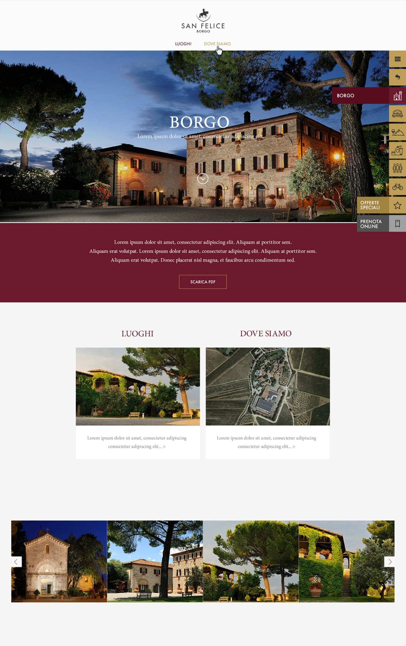 Digital strategy for Borgo San Felice Hotel – Web design by Luther Dsgn agency