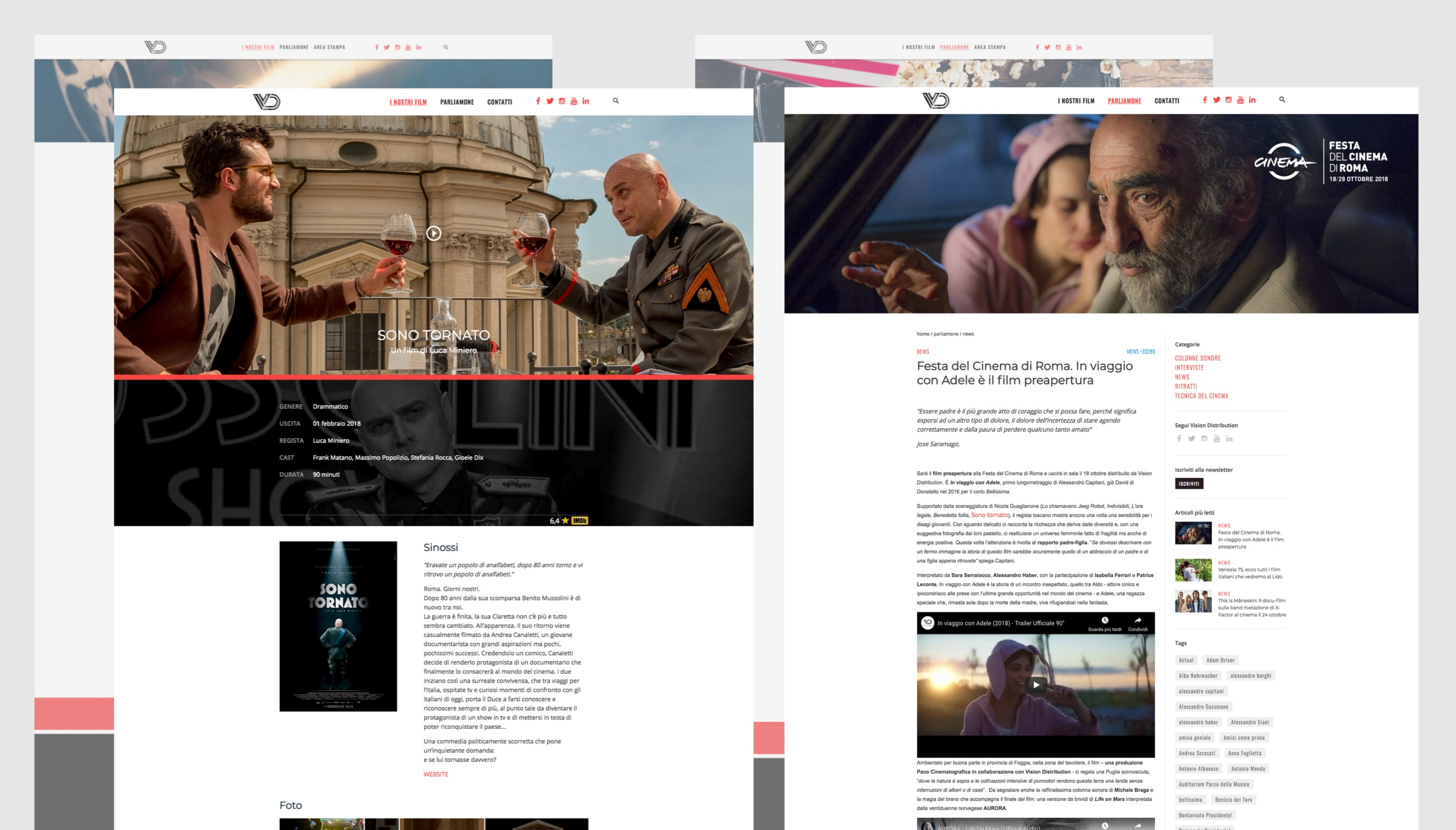 Web design company Luther Dsgn - Digital identity of Vision Distribution - Sky