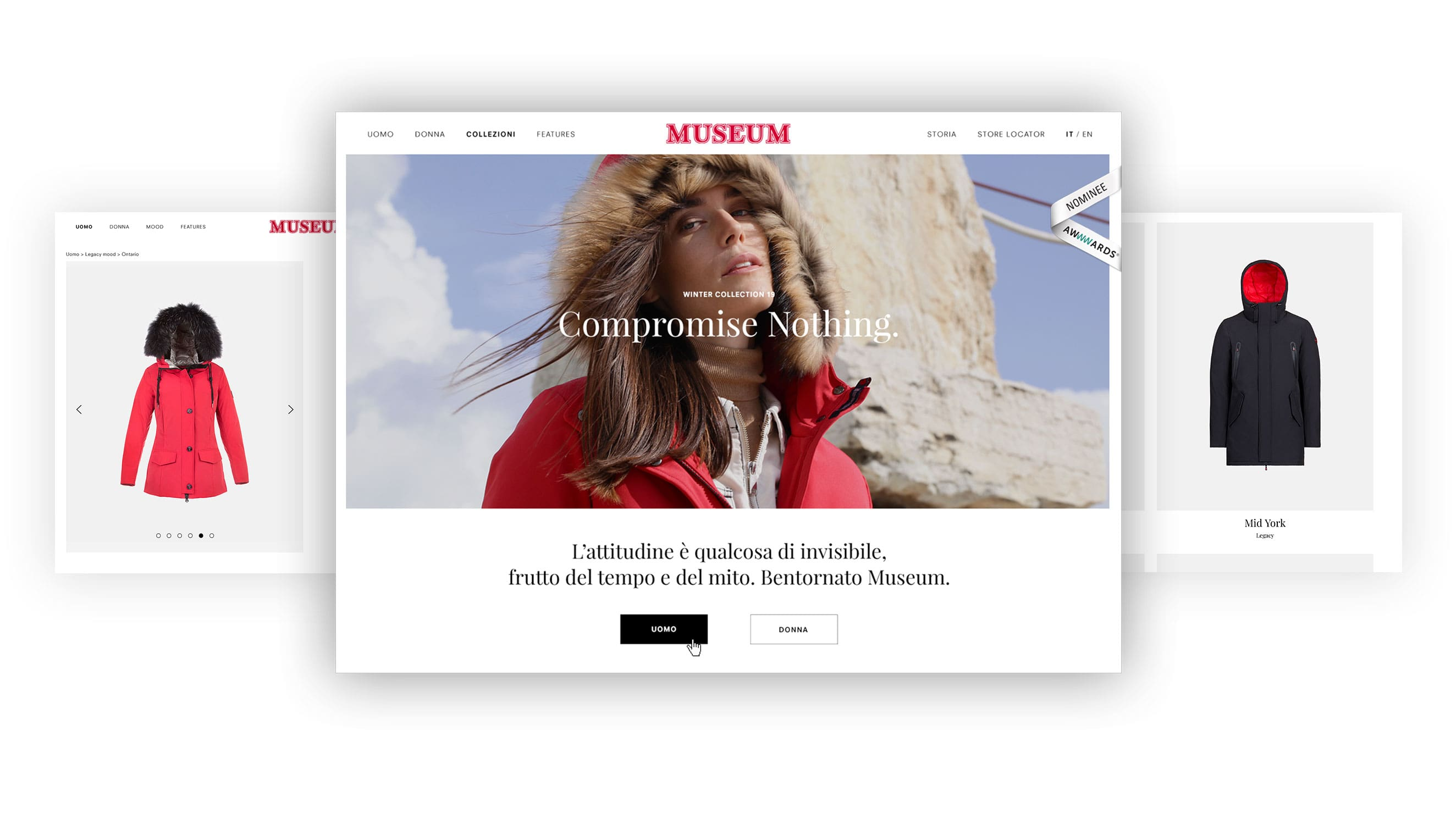 Fashion ecommerce website design for Museum - Luther Dsgn agency