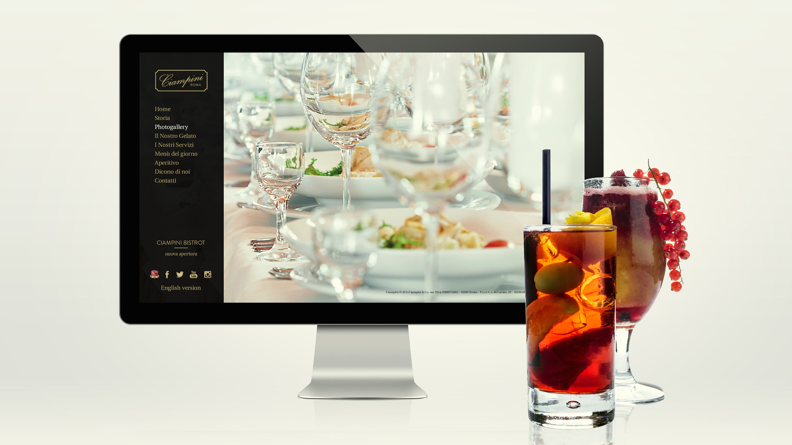 Food marketing agency for Ciampini - Luther Dsgn