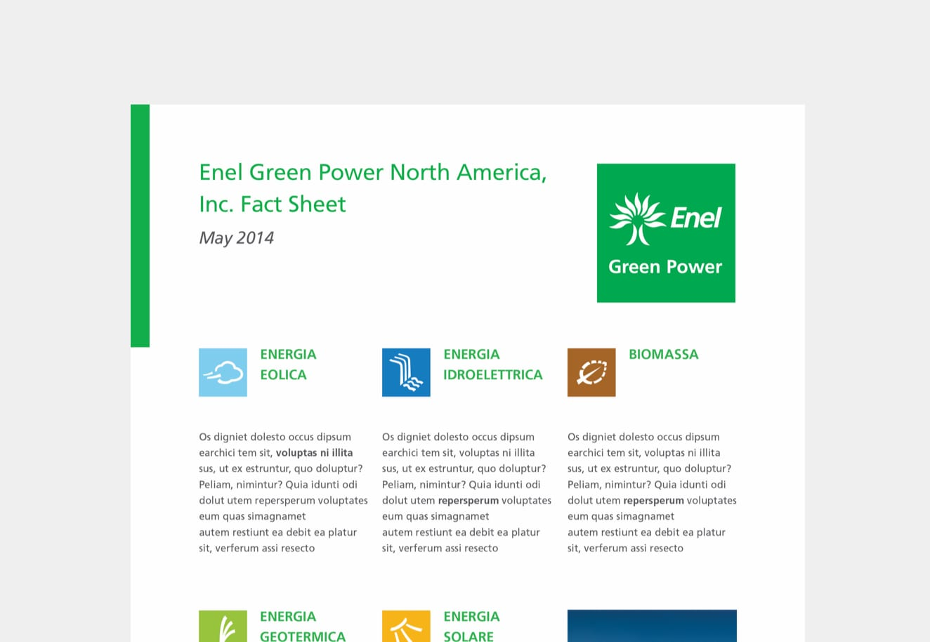 Our brand strategy agency Luther Dsgn develops the internal communication strategy for Enel Green Power