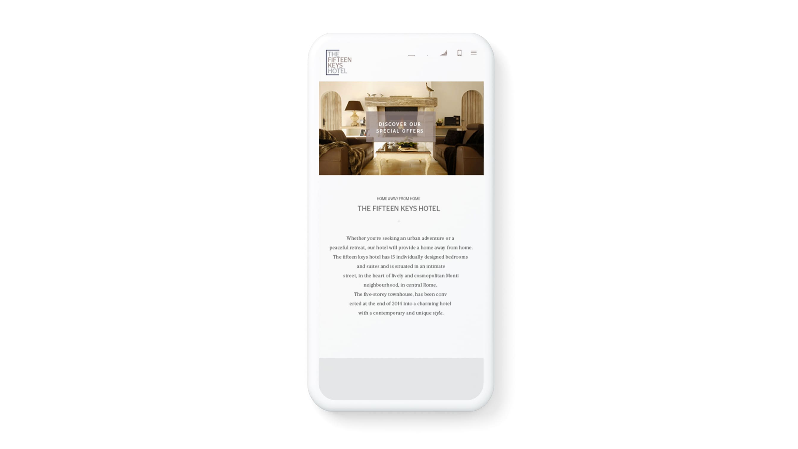 Hotel booking engine for The Fifteen Keys website - Luther Dsgn