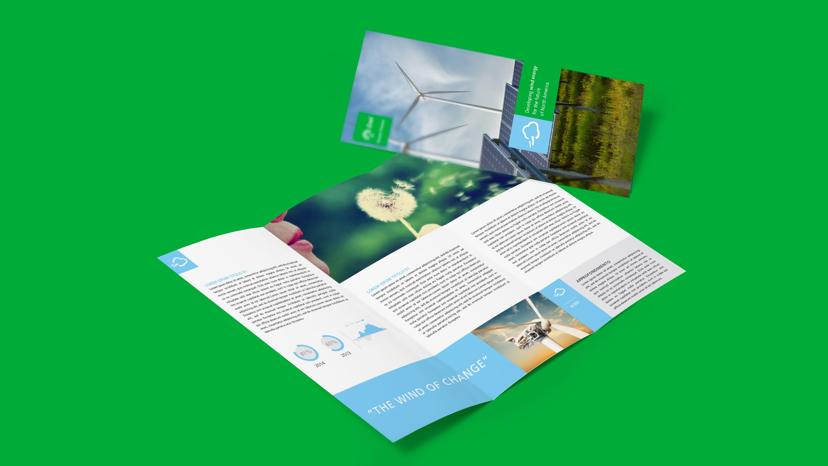 Visual identity and operating instructions to foster internal communication strategy by Luther Dsgn for Enel Green Power