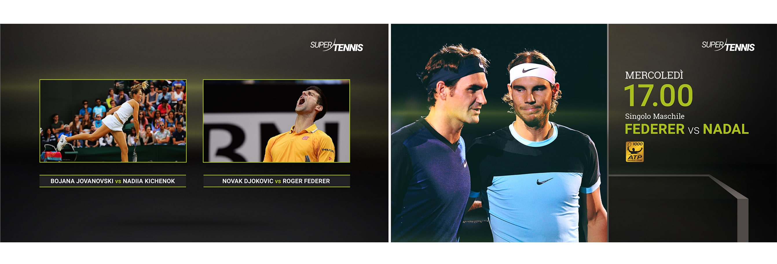 Luther Dsgn branding and broadcast design company for SuperTennis