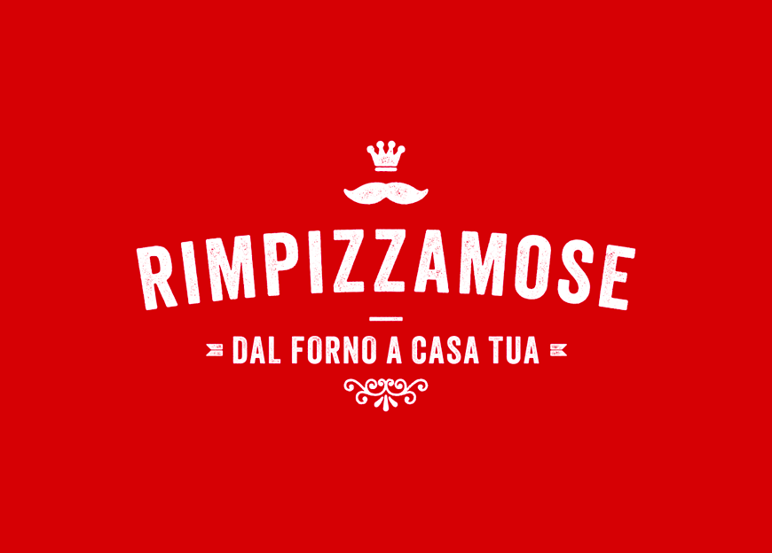 Restaurant brand identity for Rimpizzamose - Luther Dsgn branding agency
