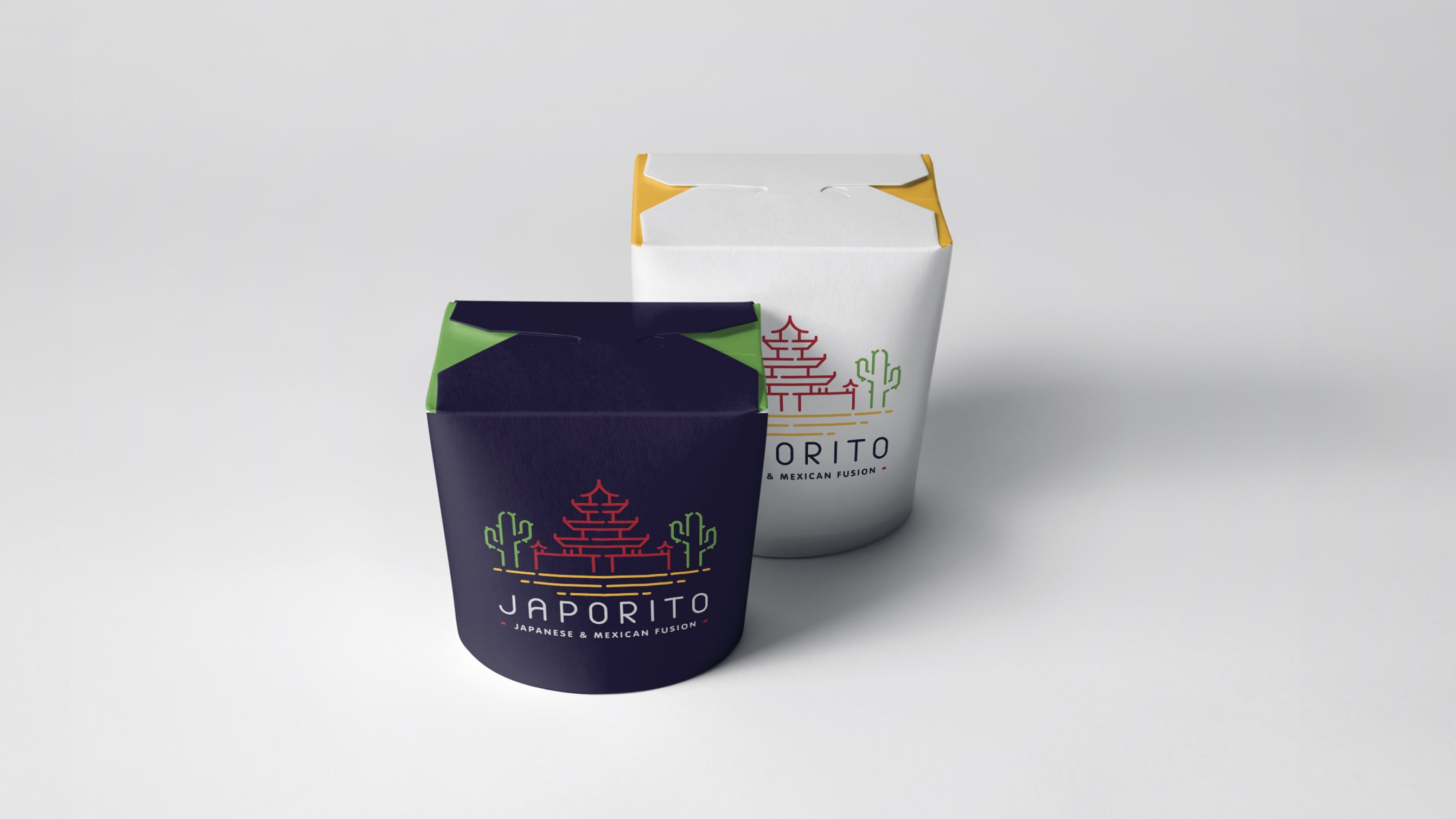 Food brand identity for Japorito - Luther Dsgn agency