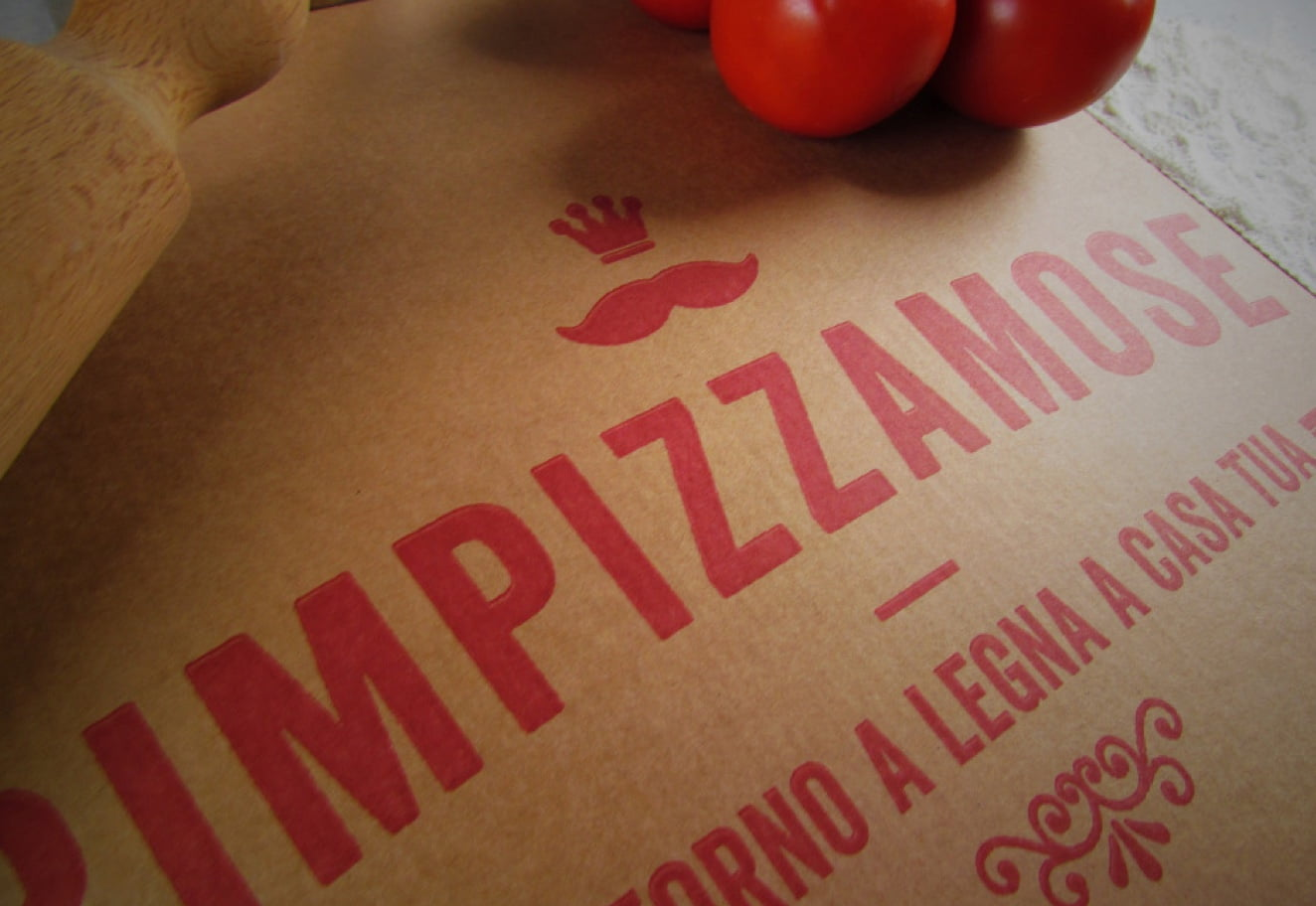 Food packaging design for Rimpizzamose - Restaurant branding agency Luther Dsgn