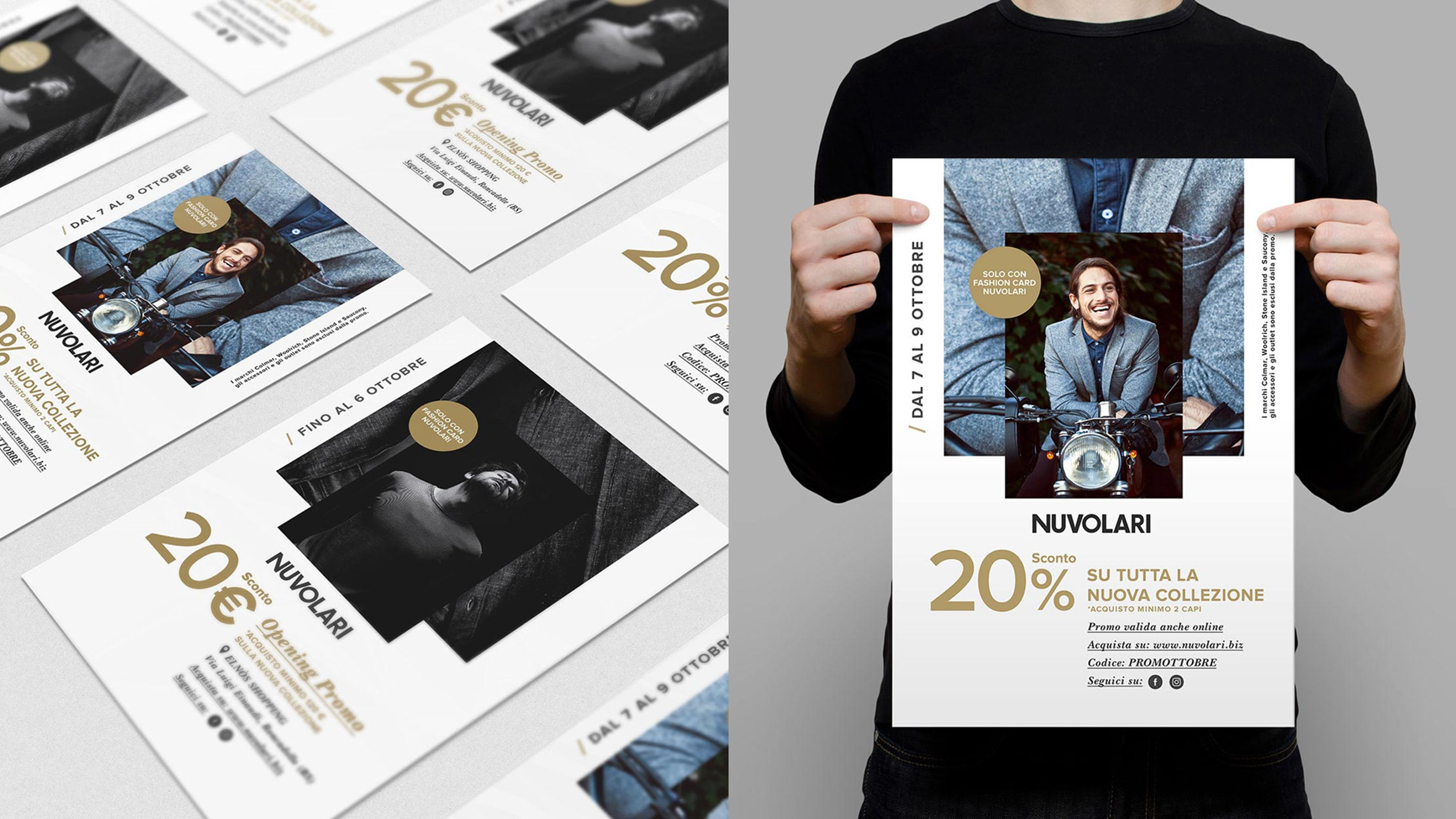 Luther Dsgn agency provided branding services and logo restyling for Nuvolari's fashion ecommerce websit