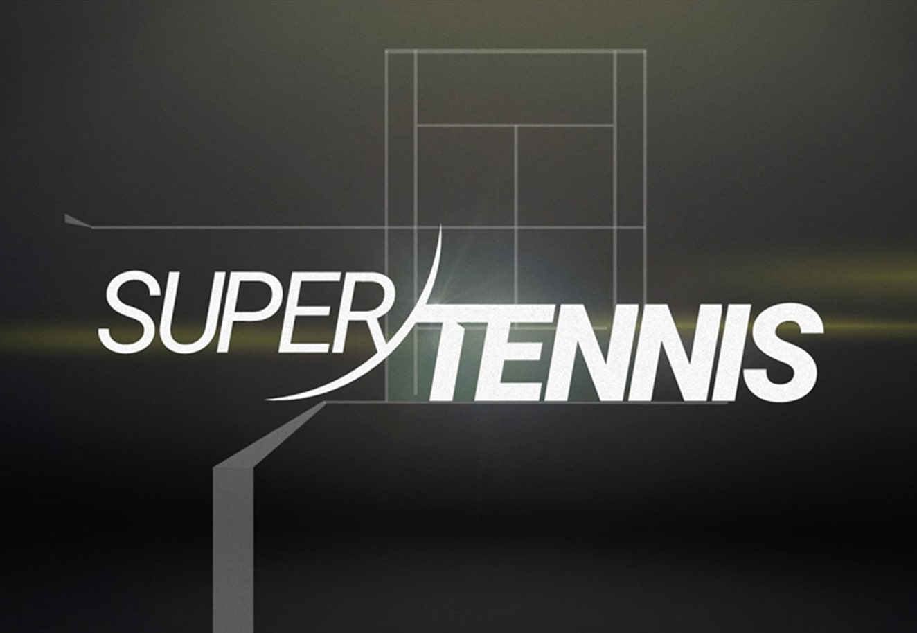 Broadcast motion graphics design and branding for SuperTennis – Luther Dsgn