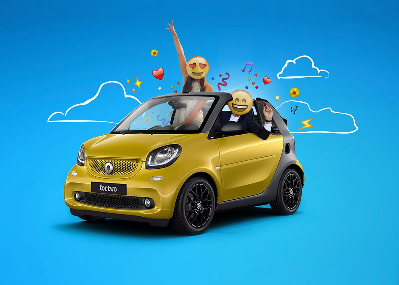 Automotive marketing strategies for Smart by Luther Dsgn agency