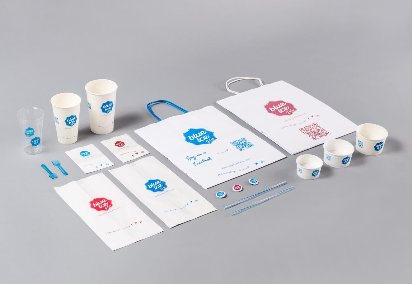 Rebranding and corporate packaging for Blue Ice – Logo design agency Luther Dsgn