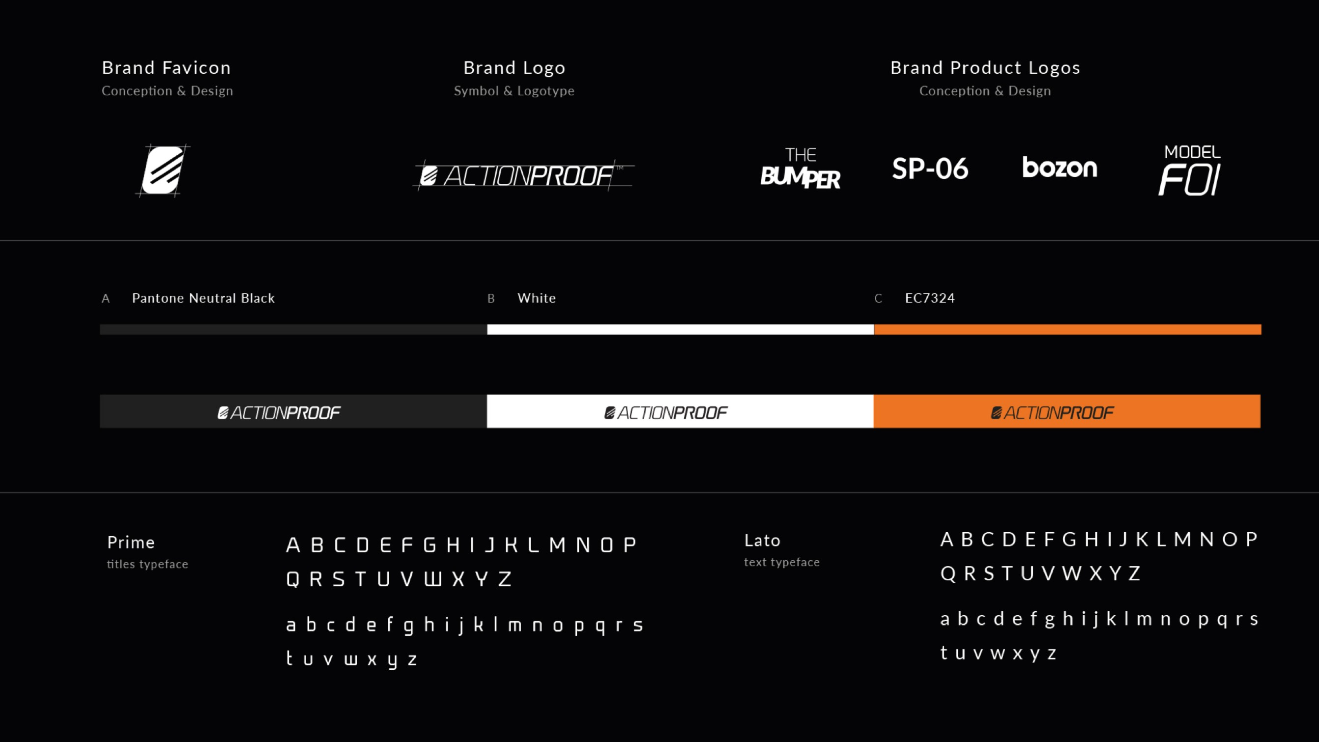 A distinctive brand identity with a hi-tech touch for Actionproof –Luther Dsgn branding agency
