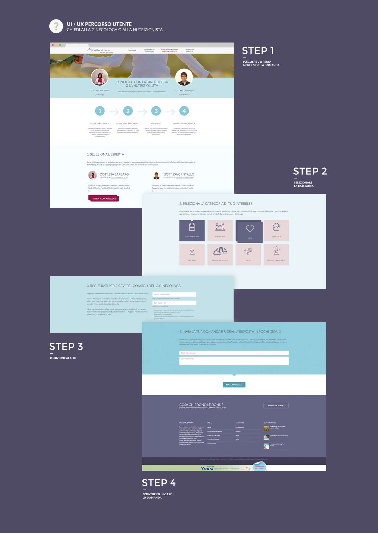 Digital storytelling and website design for Ymea by Luther Dsgn company