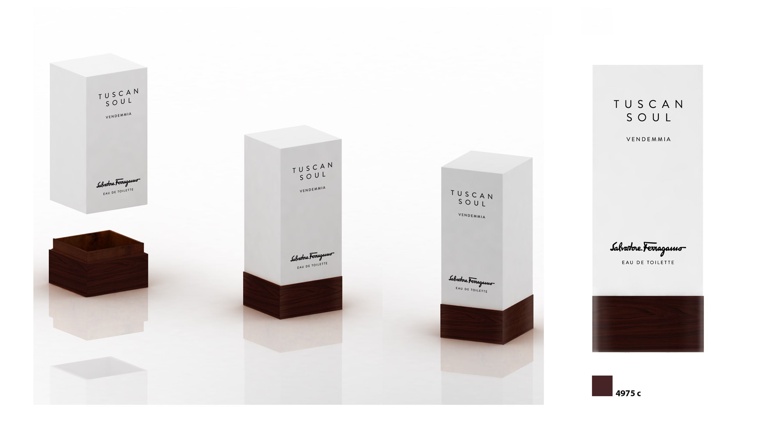 Brand strategy and product packaging design by Luther Dsgn for Salvatore Ferragamo