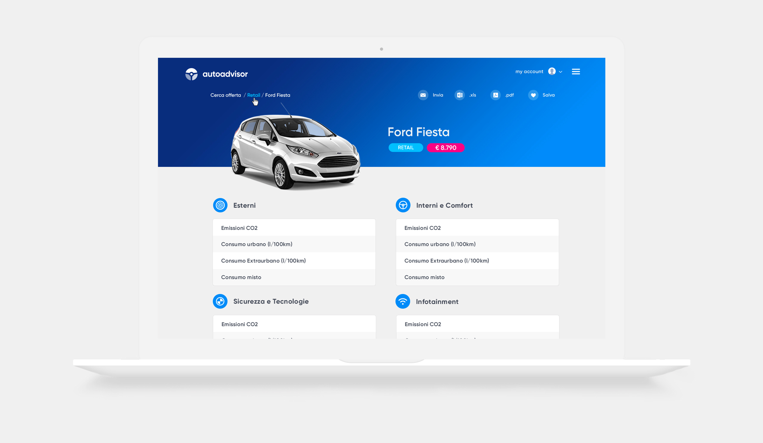 User experience design & web application development for Autoadvisor - Luther Dsgn