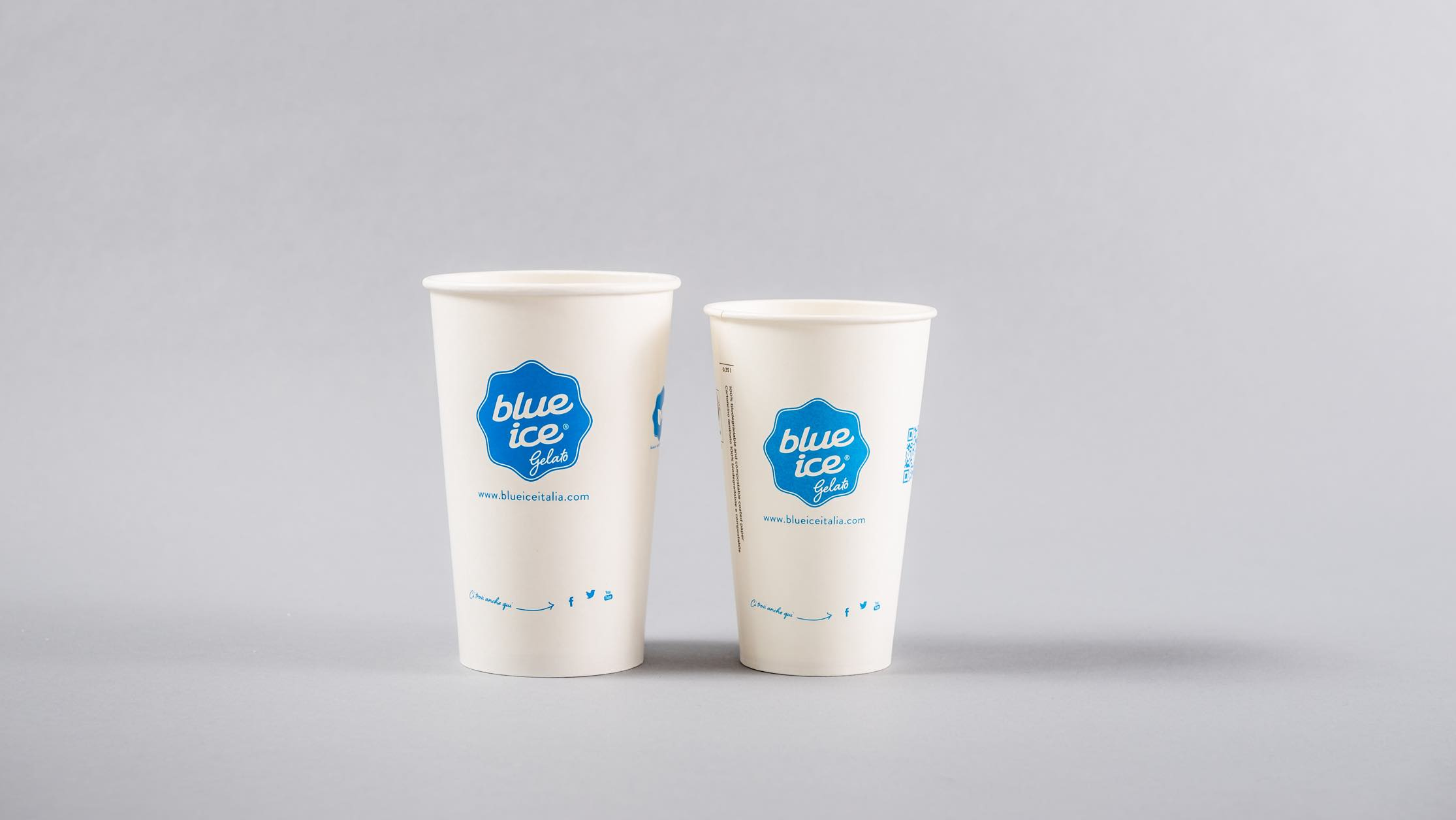 Luther Dsgn agency designed a new coordinated image for Blue Ice
