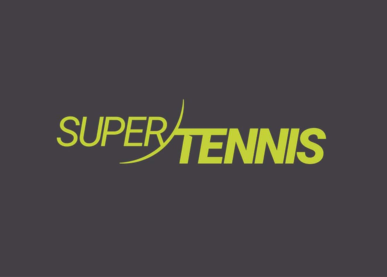 Broadcast motion graphics and logo animation for SuperTennis - Luther Dsgn agency