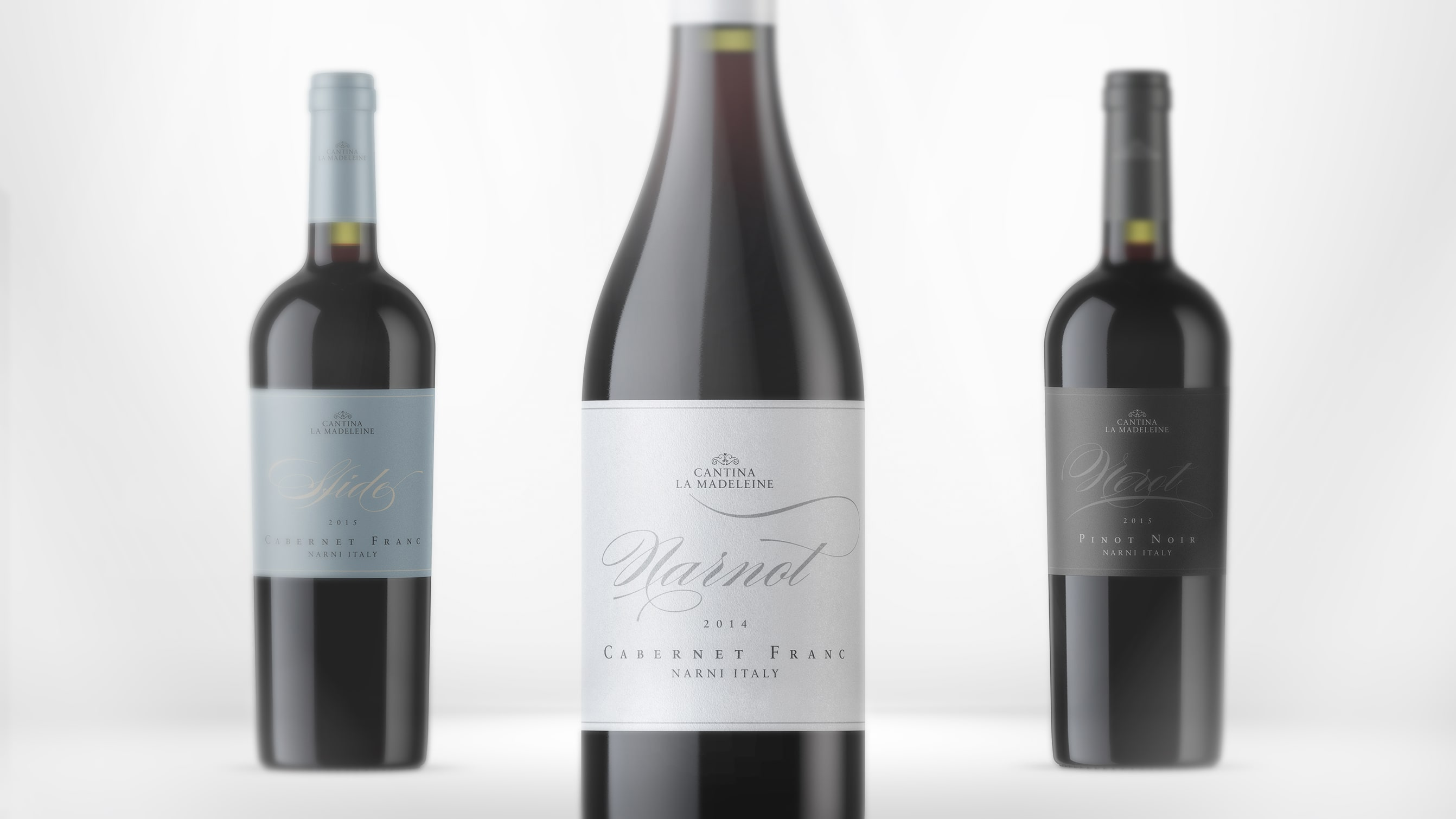 Food brand identity for La Madeleine wine - Luther Dsgn agency